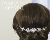 Swarovski Crystal Art Deco Bridal Headpiece  | Rhinestone Wedding Headpiece |  Bridal Hair Piece |Hair Jewelry | Boho Hair Accessory