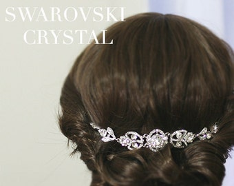 Swarovski Crystal Art Deco Bridal Headpiece  | Rhinestone Wedding Headpiece |  Bridal Hair Piece |Hair Jewelry | Boho Hair Accessory