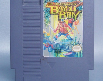 Vintage Nintendo Bayou Billy Video Game in Working Condition
