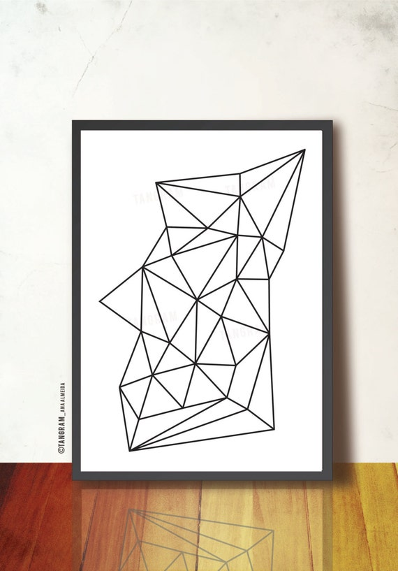printable geometric art poster scandinavian design inspired. Black Bedroom Furniture Sets. Home Design Ideas
