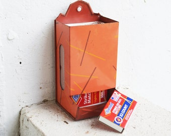 Red Metal Matches Wall Box/Holder