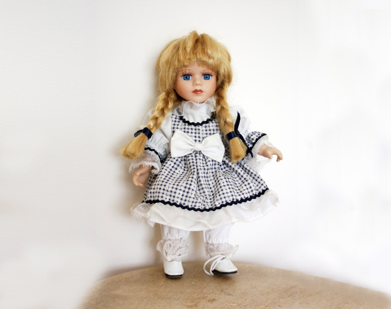 vintage german doll 1970s porcelain doll collectible doll