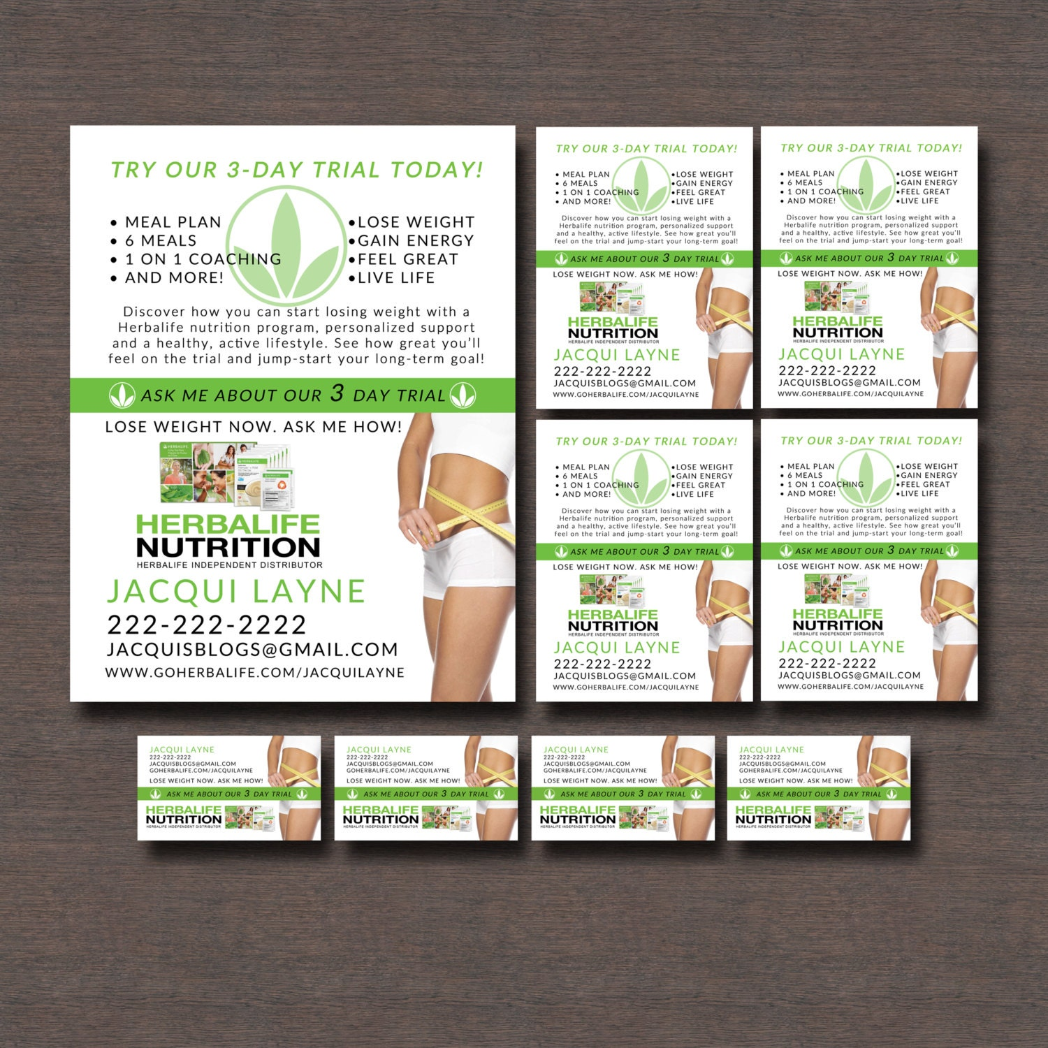 herbalife 3 day trial flyers and business by wackyjacquisdesigns. Black Bedroom Furniture Sets. Home Design Ideas