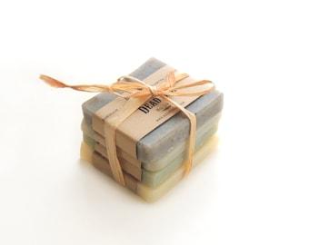 Men soap sampler, Soap sampler Vegan Soap Unscented Soap Natural Soap Christmas gift stocking stuffer fathers gift dad gift husband gift