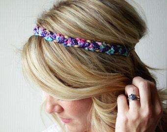 Sparkle Braided Headband Boho Crochet Wedding Hair Accessory