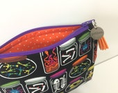 Haunted Apothecary Zipper Pouch. Metal Charm + Tassel Pull. Halloween Clutch. Pencil Pouch. Makeup Bag. Spooky Travel Pouch. Toiletries.