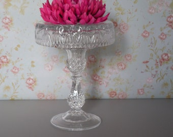 6 inch Cake stand / Crystal cake stand / Vintage Pedestal Stand / Weddings / Baby Shower / Small Dessert Stand