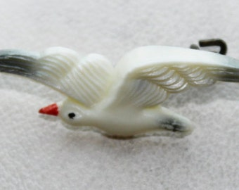 Vintage Small Seagull Brooch Pin