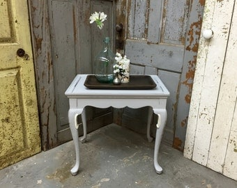 Hickory Chair Furniture, Grey End Table, Shabby Chic Side Table