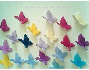 Sugar Fondant Gumpaste, Butterfly, Wedding, Christening, 12 Coloured Edible Little Gumpaste Sugar Fondant Butterfly Australia