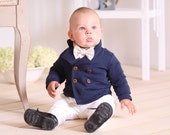 Baby boy Blazer Double breasted blazer Baby boy outfit Wedding party outfit 1st birthday outfit Boys suit Family photo Christening outfit