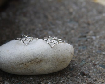 Infinity Heart Ring, Heart Infinity Ring, Love Ring, Promise Ring, Heart Ring, Sterling Silver Ring, Anniversary Ring, remembrance Jewelry