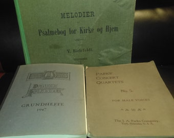 3 Vintage music/song sheets FREE SHIPPING!