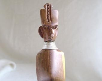 Vintage Tiki Bar Tools, Bar Utensils, Tiki Chief, Bottle Opener, Ice Tongs, Carved Wood, MidCentury, Hawaii Decor, Luau, Pacific Islands