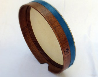 40cm Bendir Tar Frame Drum Walnut Wax Style Finish by KleoDrums