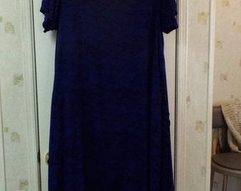Maxi Dress  Purple and Black Boho Style