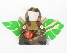 Lunch bag Kids | Zé Snack glutton kids back to school bag | Lunch tote bag | toddler gift | kids handbag | toy storage | military camouflage