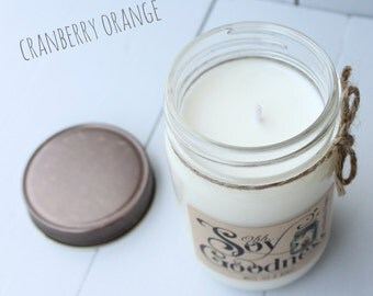CRANBERRY ORANGE 12 oz | Hand-Poured Soy Candle