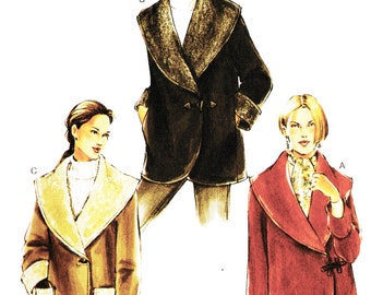 Vogue 7806 Misses' Wide Collar Fall/Winter Jacket Sewing Pattern