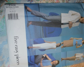 Vogue 2328  Misses / Misses Petite  Jacket Dress Top Skirt and Pants Sewing Pattern - UNCUT - Sizes 18 20 22