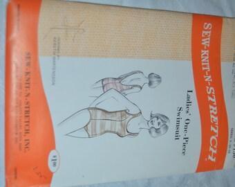 Sew Knit n Stretch 150 Ladies One Piece Swimsuit Sewing Pattern  - UNCUT -  Sie 8 10 12