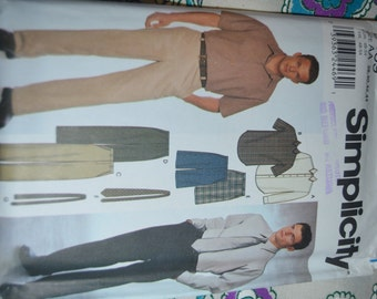Simplicity  9469 Men's Shirt, Pants, Shorts, and Tie Sewing Pattern - UNCUT - Sizes 38 40 42 44
