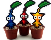 Video Game Plants - Artificial Plants - Fake Plants - 8 Bit Plants - Desk Plants - Video Game Decoration - Video Game Decor