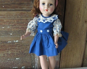 "Sweet Sue 14"" Walker Doll, American Character, Vintage 1950's Child's Toy"