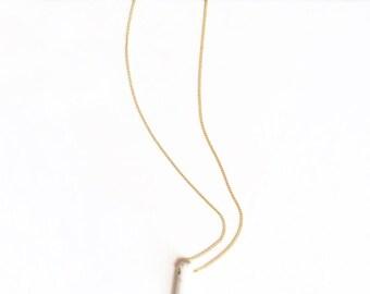 Howlite Single Spike Necklace