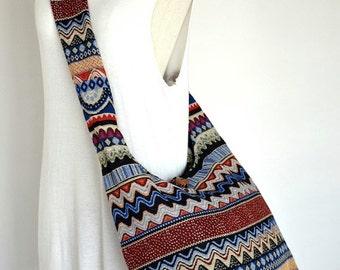 Seasonal Colorful Woven Bag Tribal Bag Bohemian Handbags Diaper Bag Purse Cotton Bag Hippie Bag Boho Hobo Bag Shoulder Bag Hmong Bag EA02