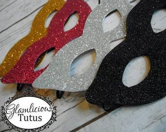 Glitter Superhero Mask| Child-Adult lisitng | Multiple colors