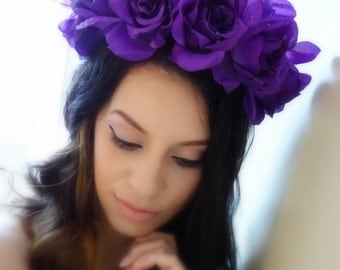 Flower Crown, Floral Crown, Statement Crown