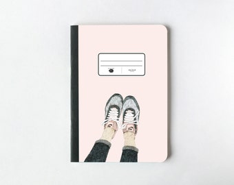 Funny Legs Illustration Notebook - Journal - Sketchbook - Blank pages - Lined pages