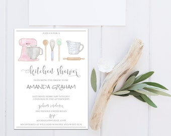 printable kitchen shower invitation