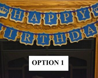 Royal Banner, Prince Banner, Royal Happy Birthday Banner, Crown Banner,  1st Birthday, Baby Boy