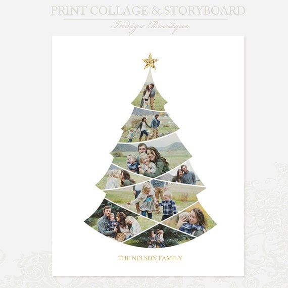 christmas tree collage template 16x20 print template blog. Black Bedroom Furniture Sets. Home Design Ideas
