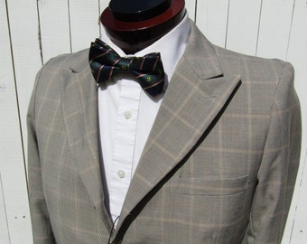 Edwardian 20's Style Windowpane Suit Jacket