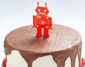 Personalised Childrens Robot Cake Topper