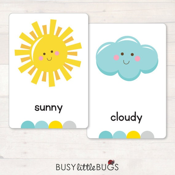 Weather Flash Cards AUTOMATIC DOWNLOAD
