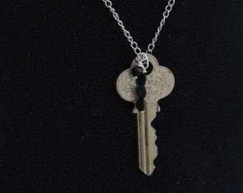K2L Silver key necklace