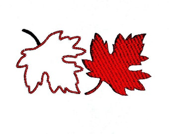 Maple Leaf Embroidery Design and Appliqué, Autumn Fall Leaves Pattern