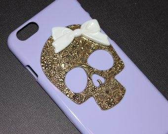 iPhone 6 or 6+ Lilac Floral Skull Case