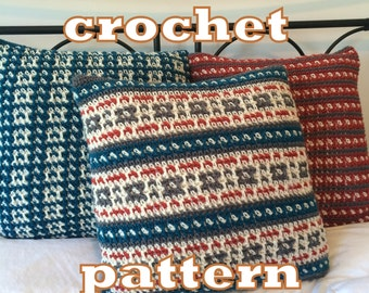 PDF Crochet Pattern Rockcliffe Park Pillow Covers