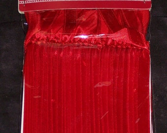Ribbon ornament hangers,bright Christmas red,50/pkg,satin ribbon,suncatcher hanger,crafts,holiday ornaments