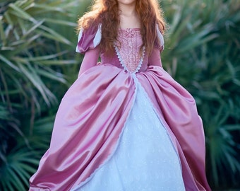 Ariel Disney Inspired Dress - Ariel's Pink and White Dress from The Little Mermaid