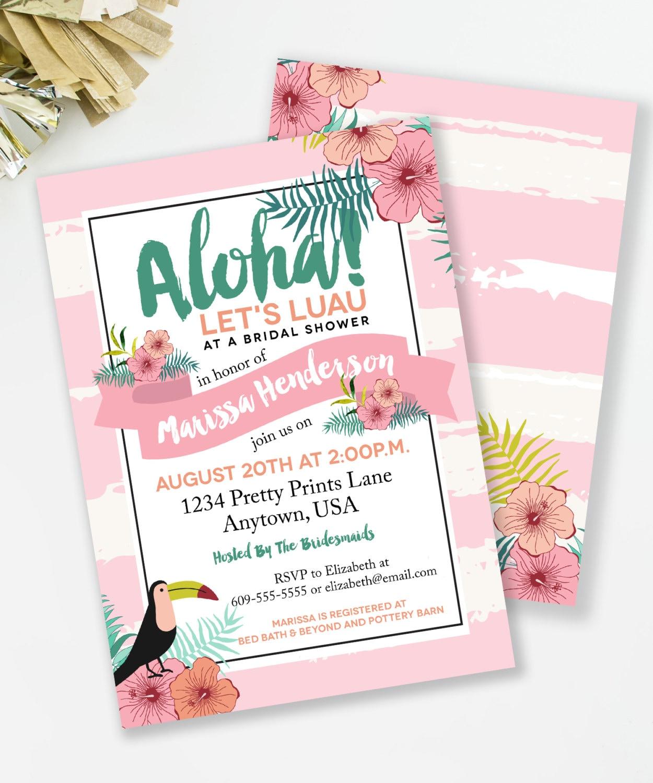 luau couples wedding shower invitation wording - 28 images - luau ...