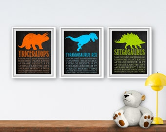 Printable Dinosaur Wall Art Dinosaur Bedroom Decor Printable Dinosaur Decor Toddler Bedroom Decor