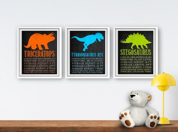 Printable Dinosaur Wall Art Dinosaur Bedroom Decor