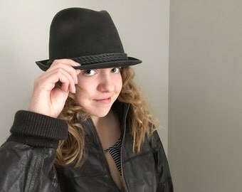 Vintage fedora Hat Brown velour hat Antilope vintage hat made in Germany Felt fedora hat Trilby Hat Autumn accessory Hipster Chic