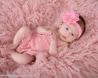 Pink Newborn Headband.Pink Baby Headband.Pink Baby Girl Headband.Headbands.Pink Infant Headband.Pink Headband for Baby.Baby Nylon Headband